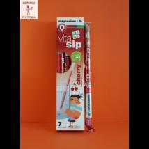 Vitasip Kids Magnézium+ B6 vitamin  cseresznye izű szívószál 7db