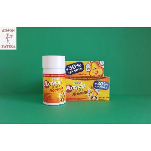 Actival Kid multivitamin +Acerola C vitamin rágótabletta 50+15db