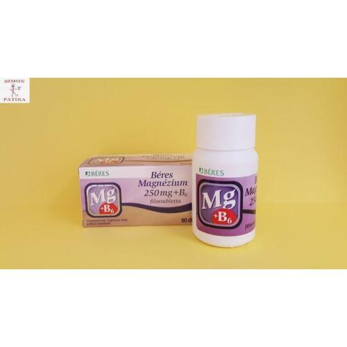 Béres Magnézium 250 mg+B6 filmtabletta 90db
