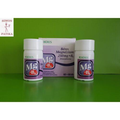 Béres Magnézium 250 mg+B6 filmtabletta 60+60db