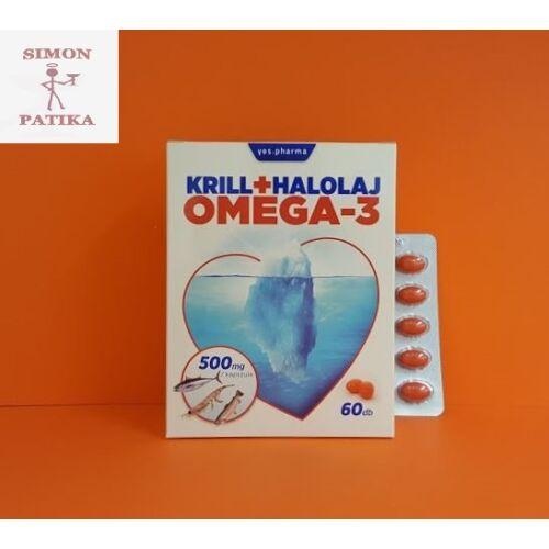 Yes.pharma Krill halolaj Omega-3 kapszula 60db