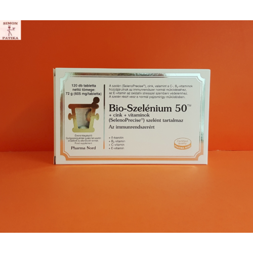 Bio -Szelénium 50TM+cink+vitaminok tabletta 120db