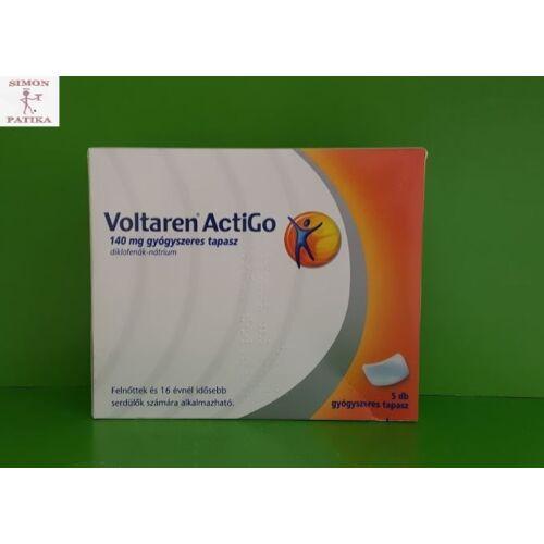 Voltaren ActiGo 140 mg gyógyszeres tapasz 5db