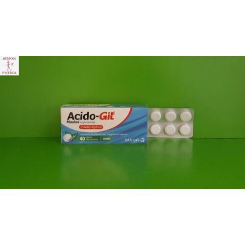 Acido-Git Maalox rágótabletta 40db