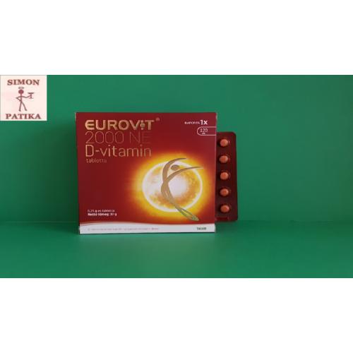 Eurovit D- vitamin 2000NE tabletta  120db