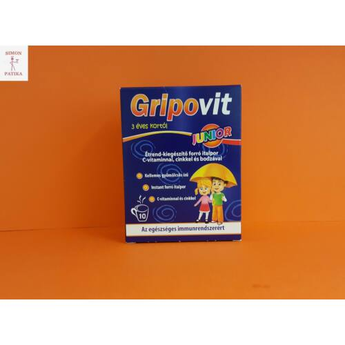 Gripovit Junior C vitamin Cink Bodza por 10db