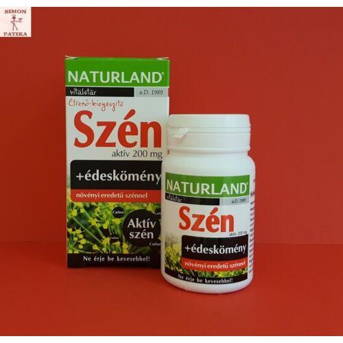 Naturland Aktív szén 200 mg kapszula 30db