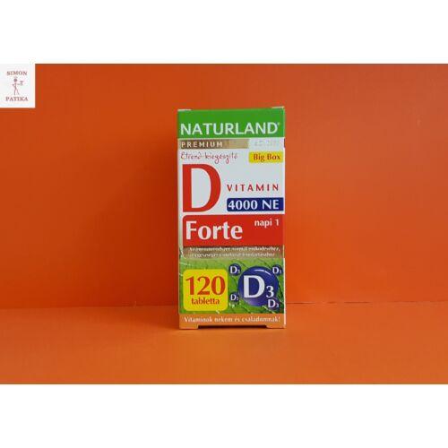Naturland D vitamin Forte tabletta 120 db