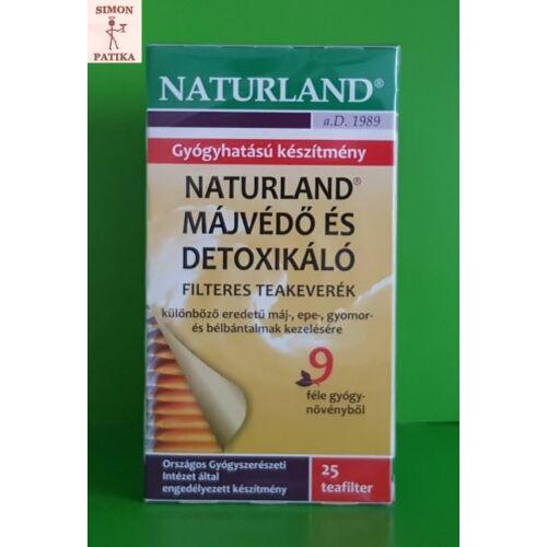 Naturland Májvédő és detoxikáló teakeverék 25x