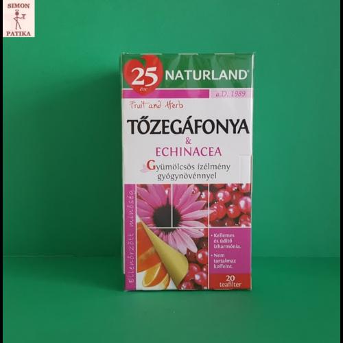 Naturland Tőzegáfonya és Echinacea gyümölcstea 20 filter