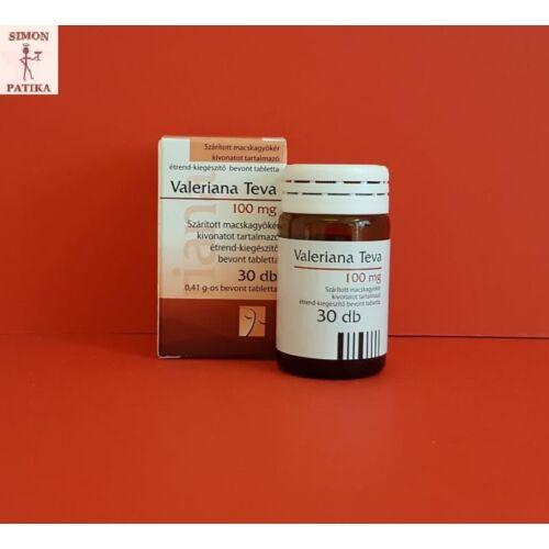 Valeriana Teva 100 mg bevont tabletta 30db