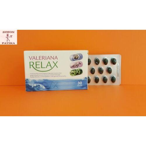 Valeriana Relax Gyógynövénykivonat kapszula 30db