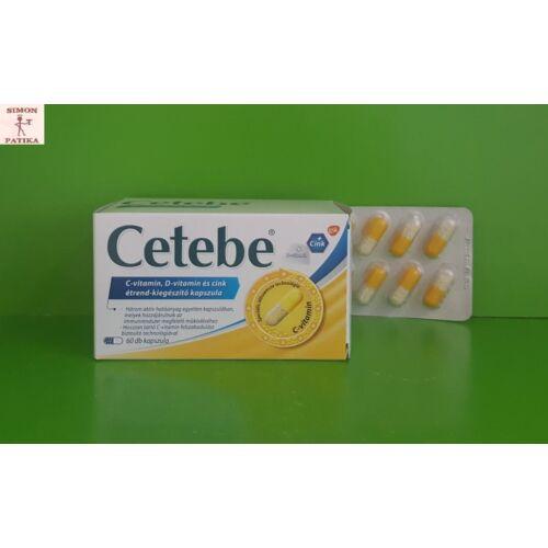 Cetebe C vitamin+cink+D vitamin kapszula 60db
