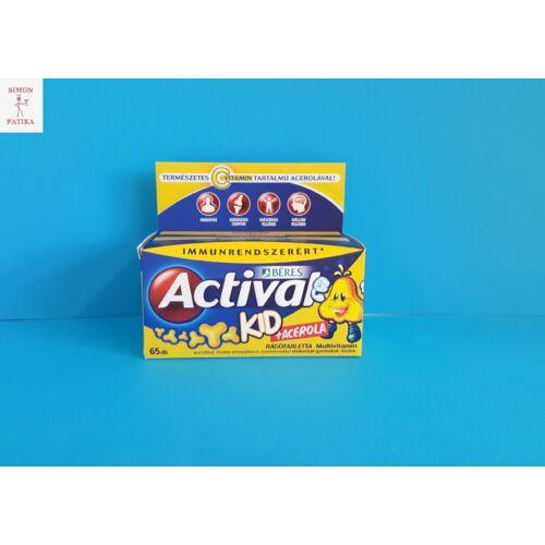 Actival Kid multivitamin +Acerola C vitamin rágótabletta 65db