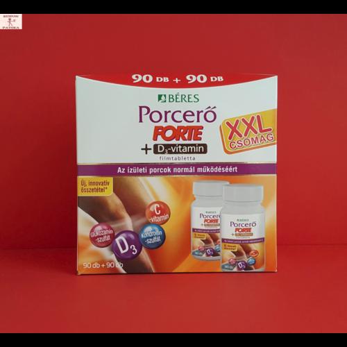 Béres Porcerő Forte+D3-vit. filmtabletta 90+90db