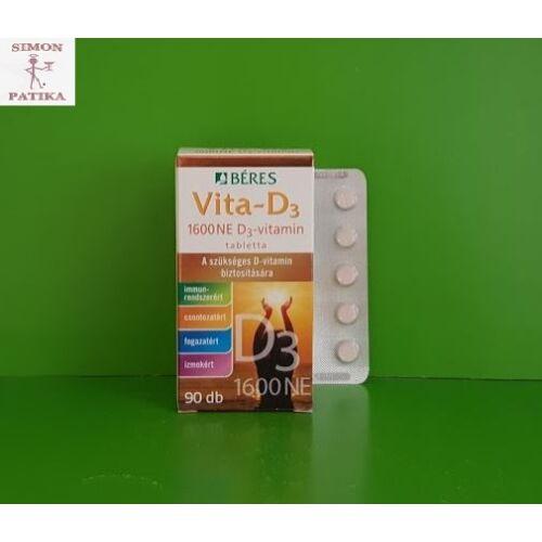Béres Vita-D3 vitamin 1600NE tabletta 90db