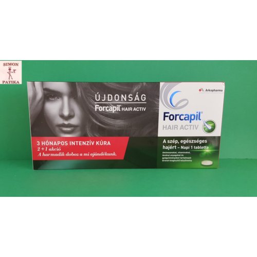 Forcapil Hair Activ tabletta  3x30db