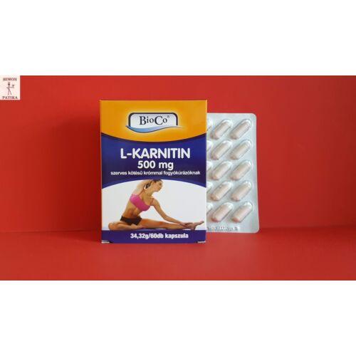 BioCo L-karnitin 500 mg kapszula 60db