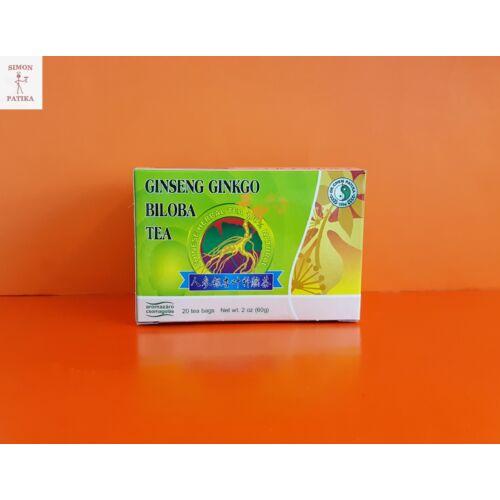 Ginseng és ginkgo zöld tea keverék