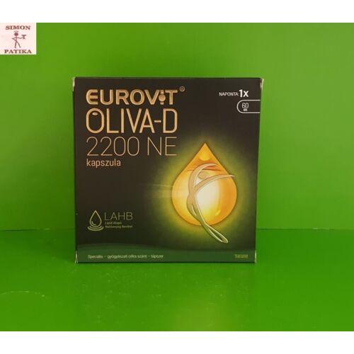 Eurovit Oliva D3 vitamin kapszula 60x