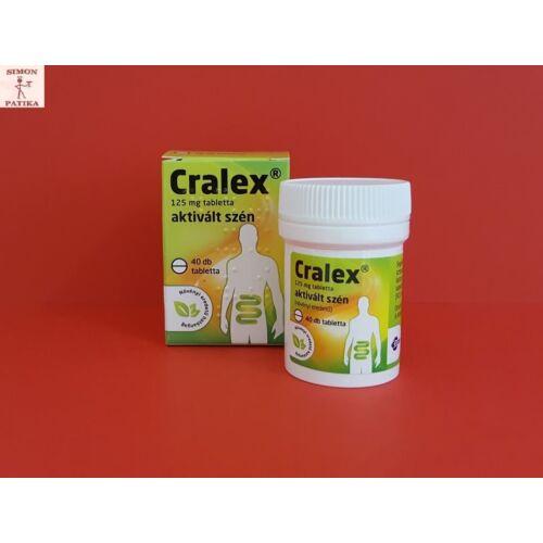 Cralex Carbo activatus aktív szén tabletta 40db