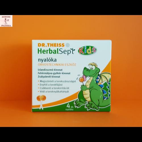 Dr. Theiss HerbalSept Kids torokfájásra nyalóka