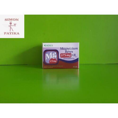Béres Magnézium 375 mg+ B6 filmtabletta 30db
