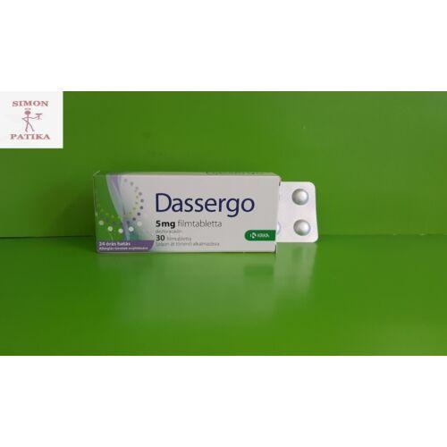Dassergo 5 mg filmtabletta 30db