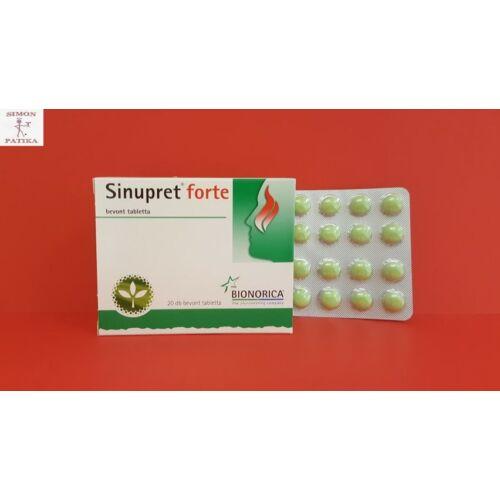 Sinupret forte bevont tabletta 20db
