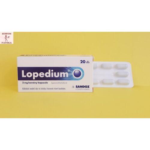 Lopedium 2 mg kemény kapszula 20db