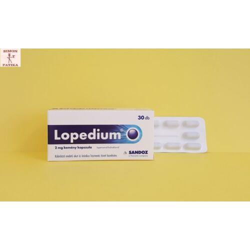 Lopedium 2 mg kemény kapszula 30db