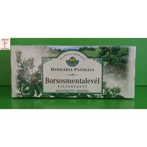 Herbária Borsosmentalevél  filteres  25db