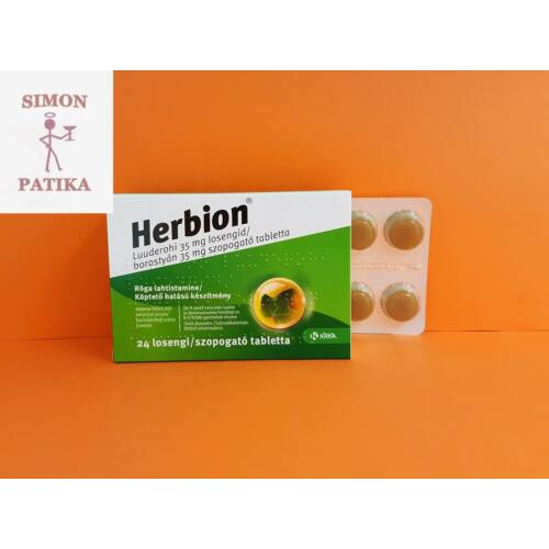 Herbion borostyán 35 mg szopogató tabletta 24db