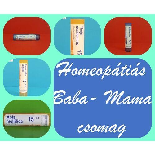 Homeopátiás Baba- Mama csomag