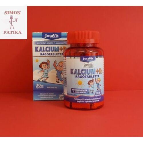JutaVit Kalcium+D3 rágótabletta Gyermekeknek 30db