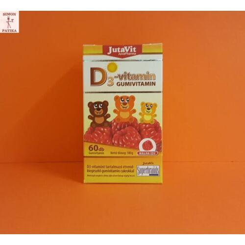 JutaVit D3-vitamin gumivitamin 60db