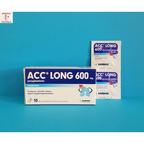 ACC long 600 mg pezsgőtabletta 10db