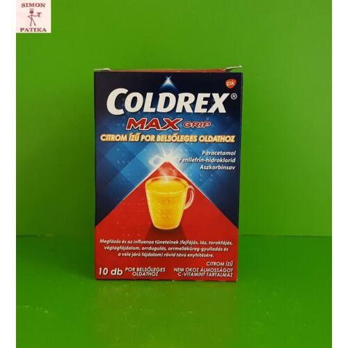Coldrex Maxgrip citrom ízű por belsőleges oldathoz 10db