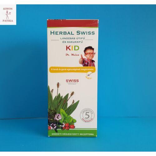 Herbal Swiss Kid Lándzsás útifű-kakukkfű szirup 300ml