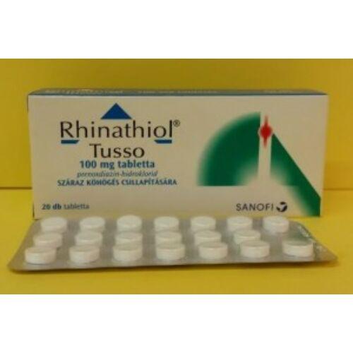 Rhinathiol Tusso 100 mg tabletta 20db
