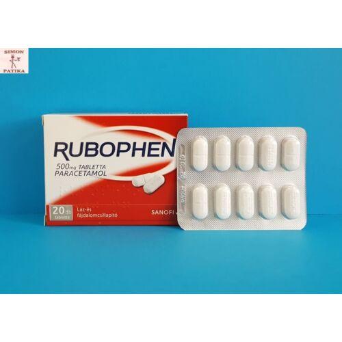 Rubophen 500 mg tabletta 20db