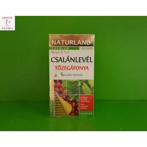 Naturland Csalánlevél +Tőzegáfonya komplex tea filteres 20db