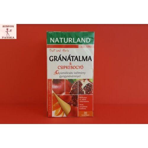 Naturland gyümölcstea Gránátalma és csipkebogyó 20db