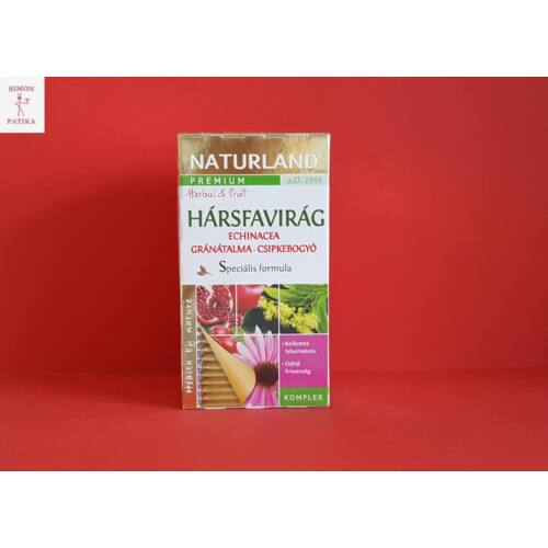 Naturland hársfavirág, echinacea, gránátalma, csipkebogyó tea