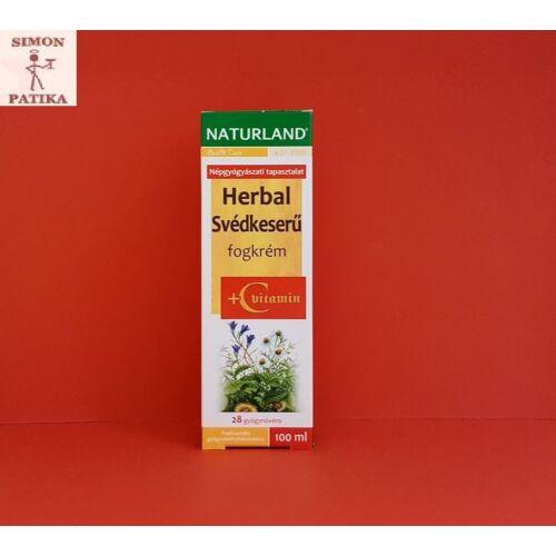 Naturland Herbal Svédkeserű fogkrém+ C vitamin