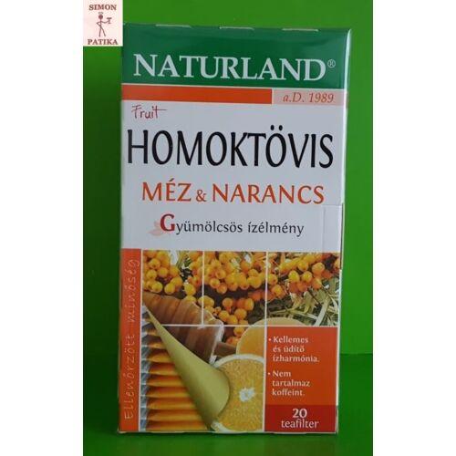 Naturland Homoktövis-méz és narancs gyümölcs tea filteres  20db