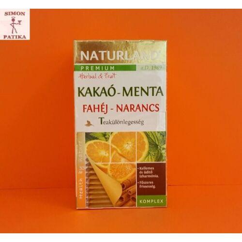 Naturland Prémium Kakaó- Fahéj-Menta-Narancs tea