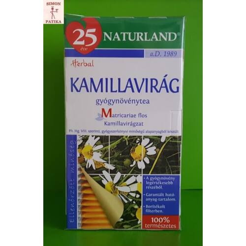 Naturland Kamillavirág filteres tea  25db
