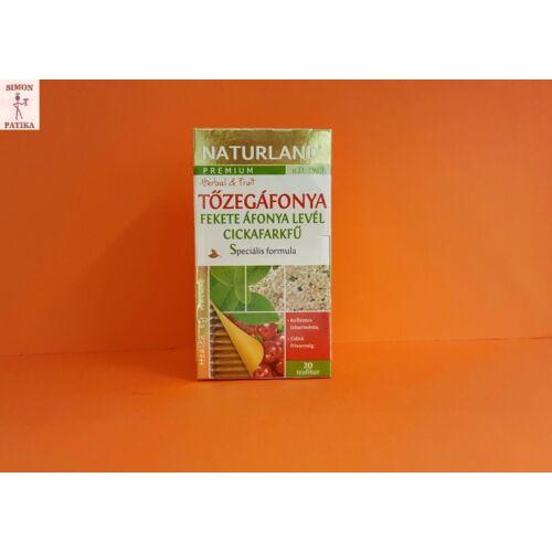 Naturland Prémium Tőzegáfonya+Feketeáfonya+Cickafark tea