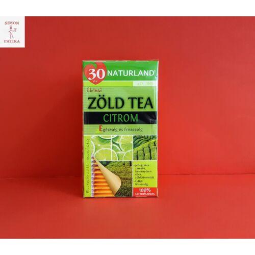 Naturland Zöld tea filteres citrom 20db